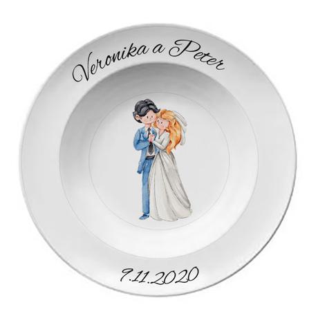 Svadobný tanier T 063  - Obrázok č. 1