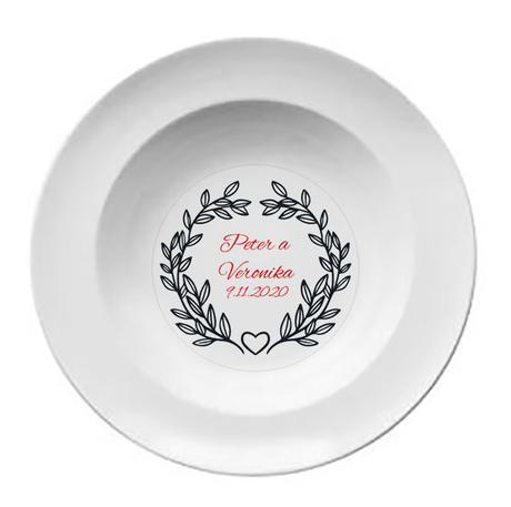 Svadobný tanier T 062 - Obrázok č. 1