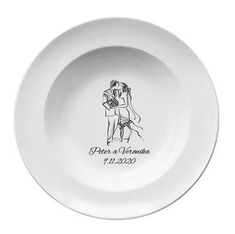 Svadobný tanier T 058 - Obrázok č. 1