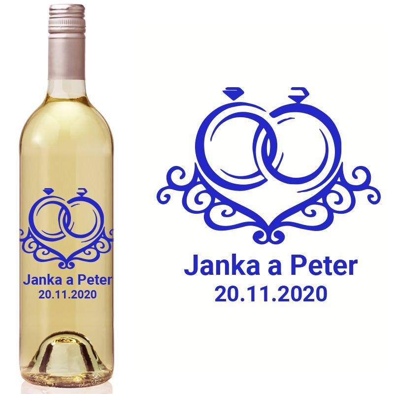 Vyrezávaná etiketa na fľašu E 093 - Obrázok č. 1