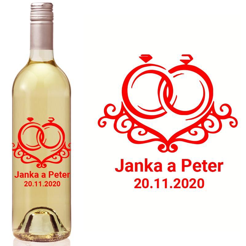 Vyrezávaná etiketa na fľašu E 094 - Obrázok č. 1