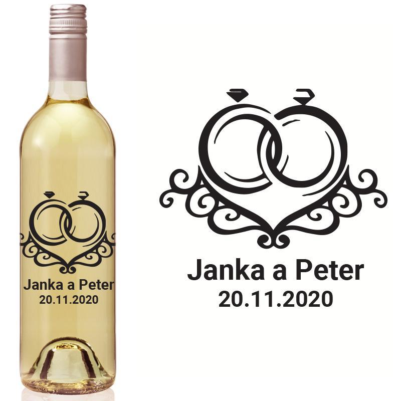 Vyrezávaná etiketa na fľašu E 095 - Obrázok č. 1