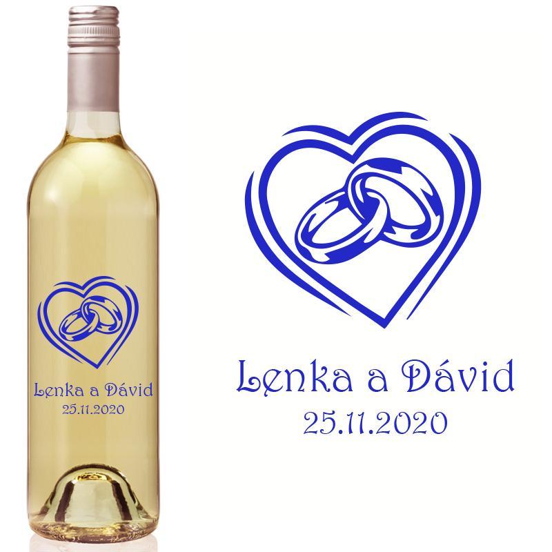 Vyrezávaná etiketa na fľašu E 096 - Obrázok č. 1