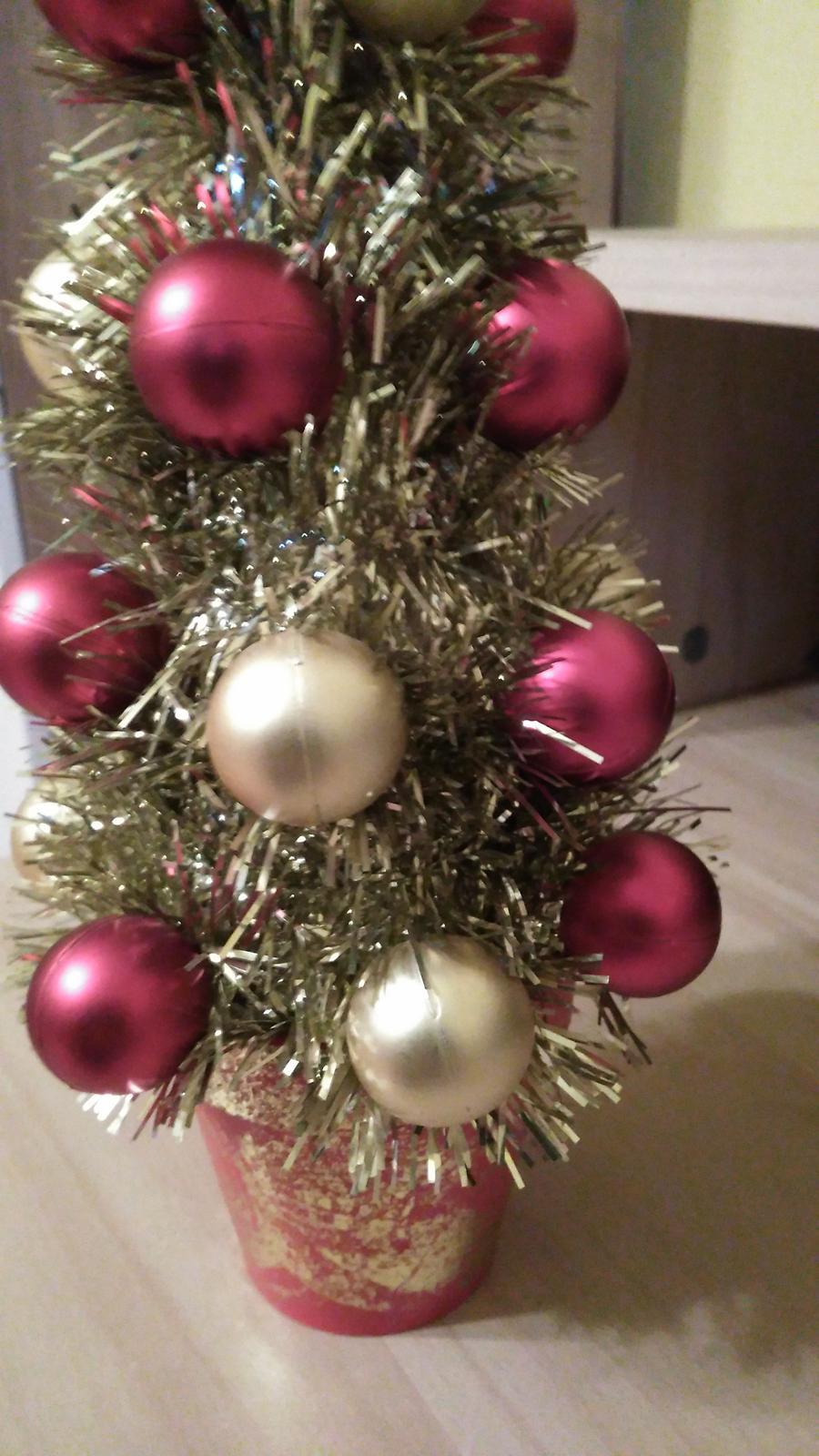 Vianočná dekorácia-stromček - Obrázok č. 3