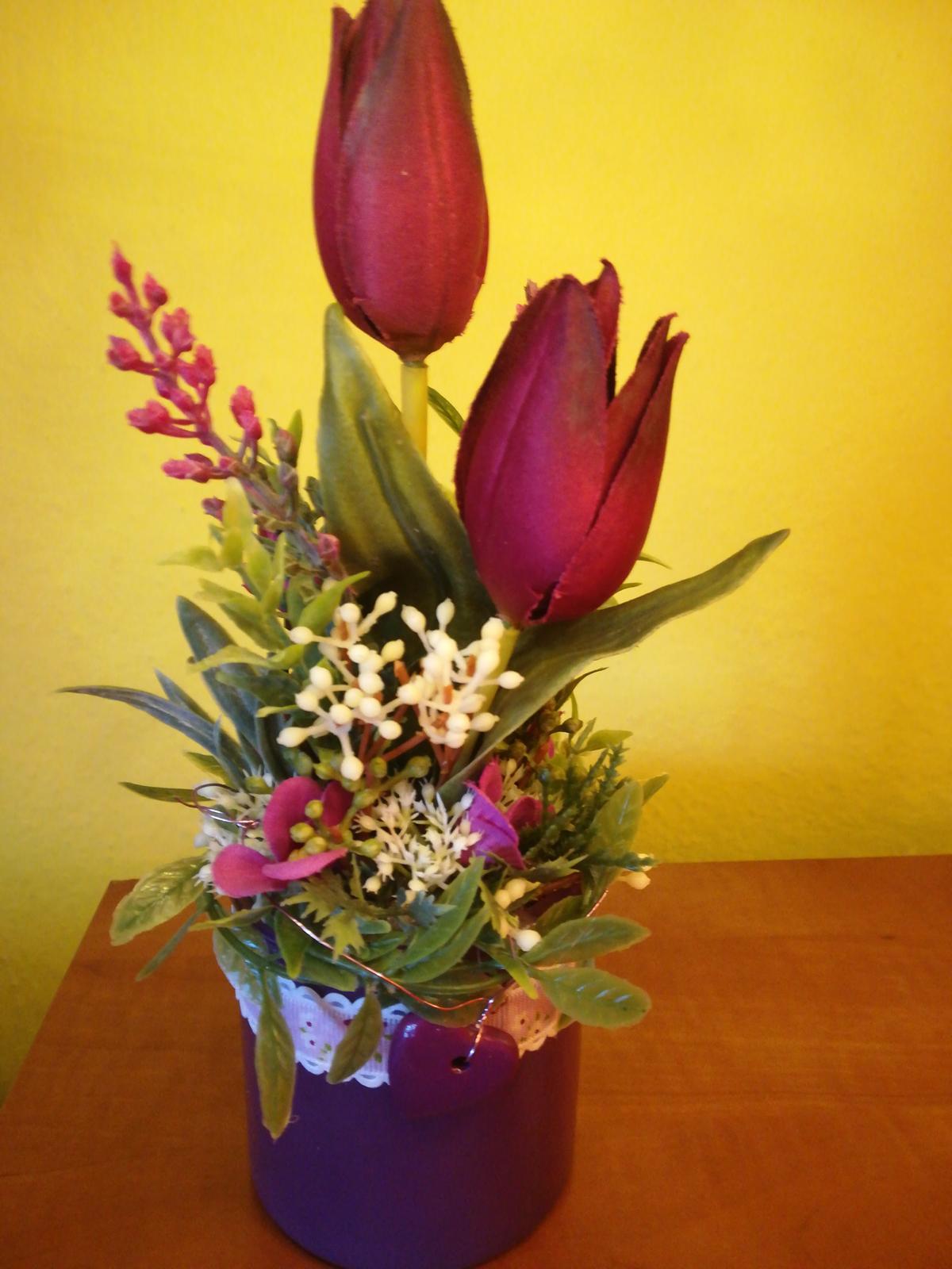 Aranžmán, tulipány  - Obrázok č. 1