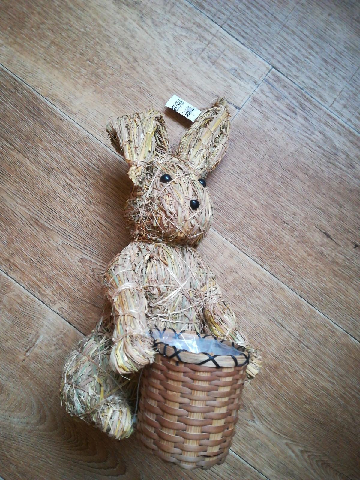 Veľkonočný zajac, kvetináč - Obrázok č. 1