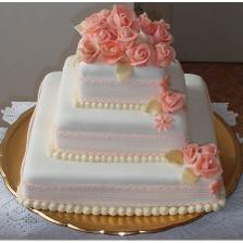 Pekná decentná torta