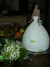 Moja svadobna torta od Lenusky..dakujem :)