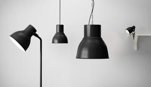 Kuchyňka s obývákem - Velká stojací koupena do obýváku, malé lampičky koupené do ložnice, menší závěsné světlo nad jídelní stůl.