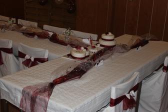 Moje práce svatební tabule....