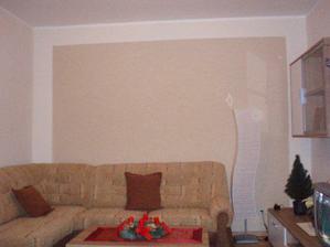 detail stěny v obýváku