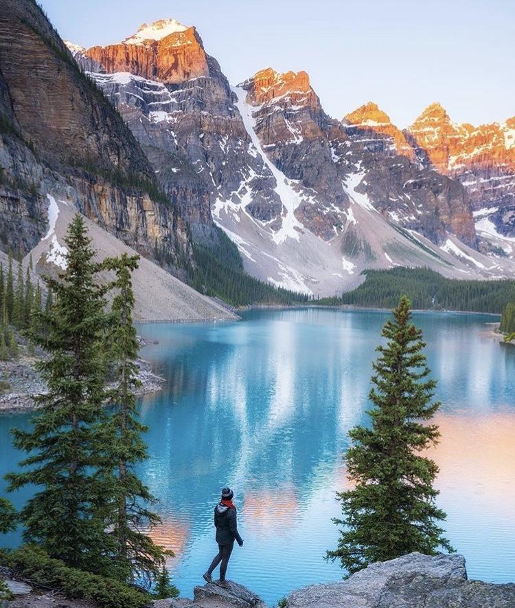 Romantická místa - zásnuby či dokonce svatba? - Moraine lake banff - Canada