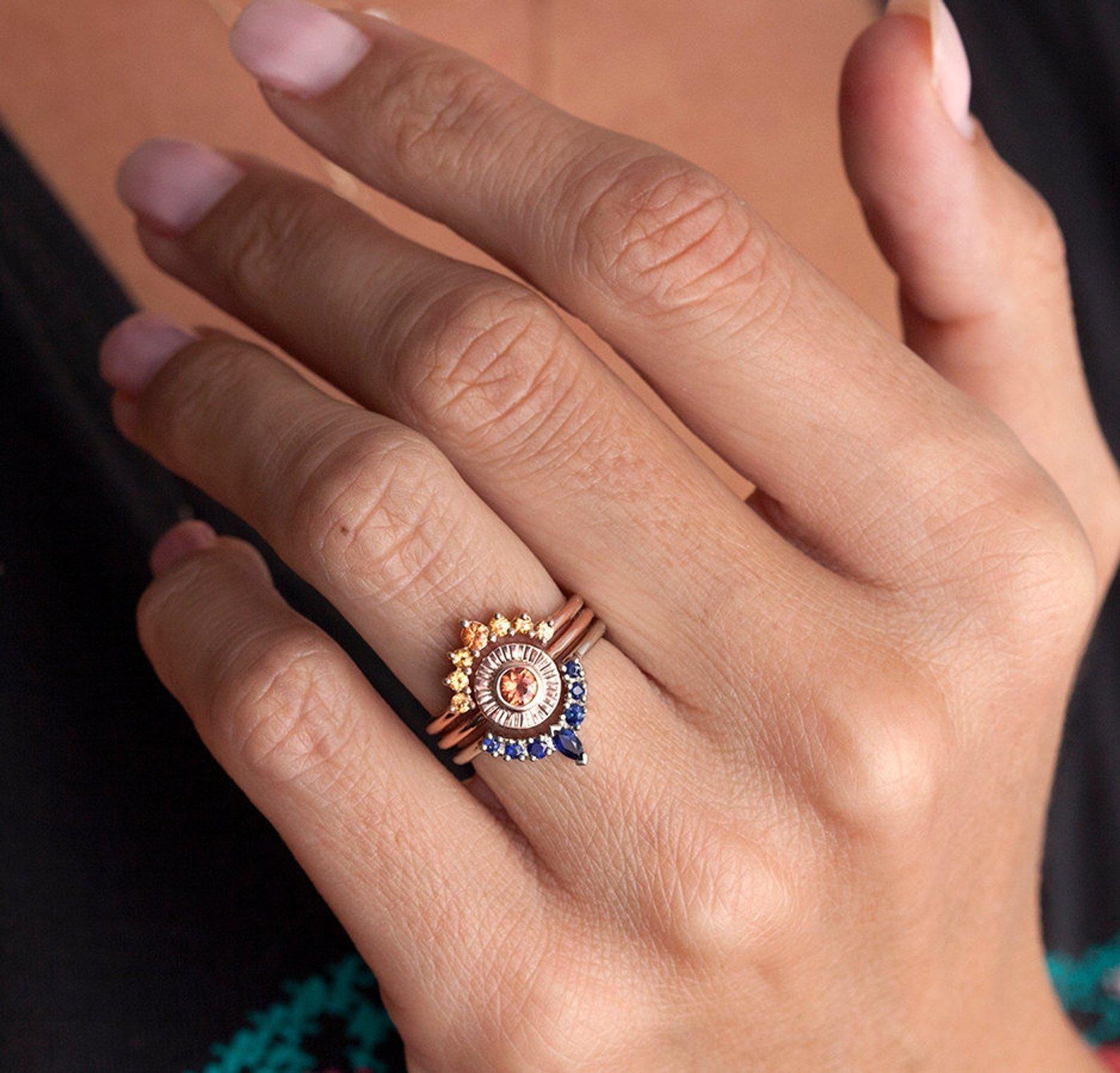 Super nápad na kombinaci zásnubního a snubního prstýnku. - Obrázek č. 6