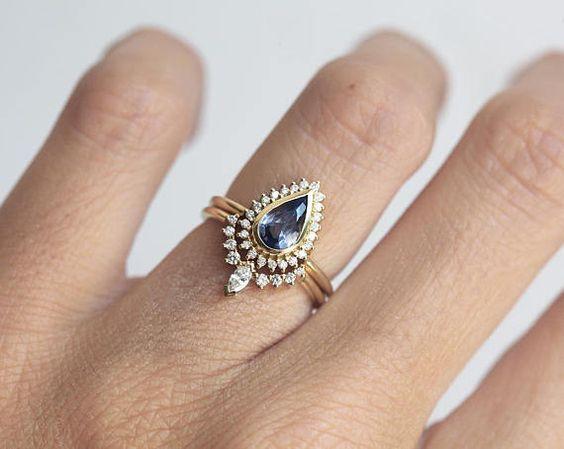 Super nápad na kombinaci zásnubního a snubního prstýnku. - Obrázek č. 11
