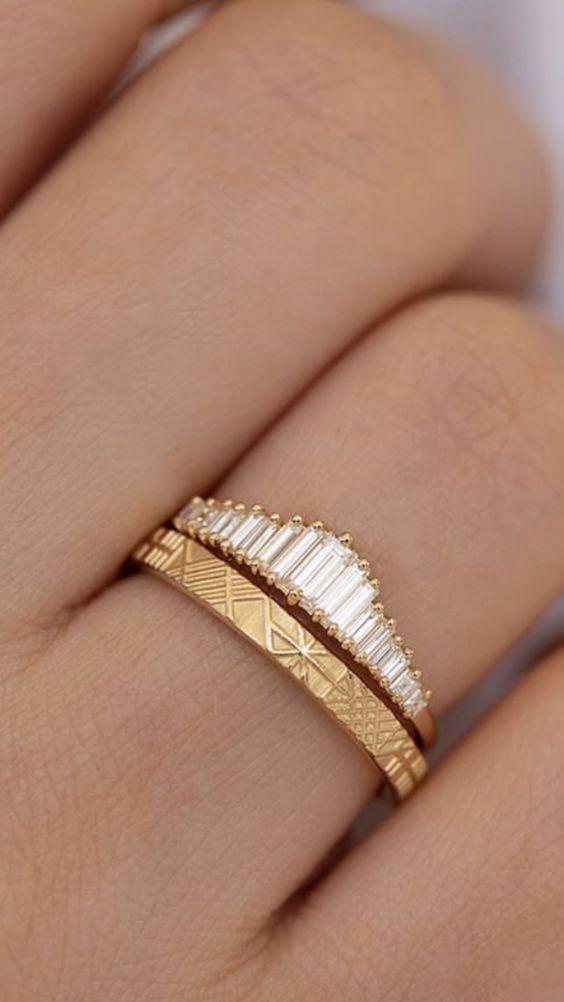 Super nápad na kombinaci zásnubního a snubního prstýnku. - Obrázek č. 13