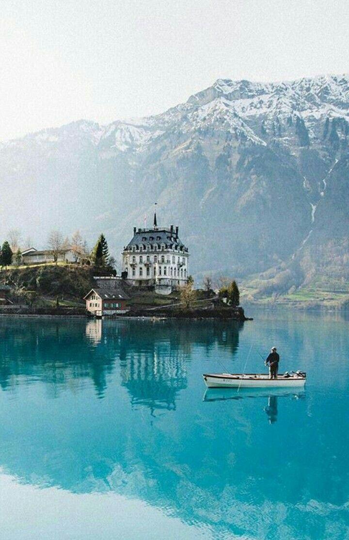 Romantická místa - zásnuby či dokonce svatba? - Iseltwald Brienzersee, Švýcarsko