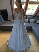 Extravagantní svatební šaty, vel. 34, 34