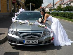 auto nevesty - vlastni vyroba dekorace