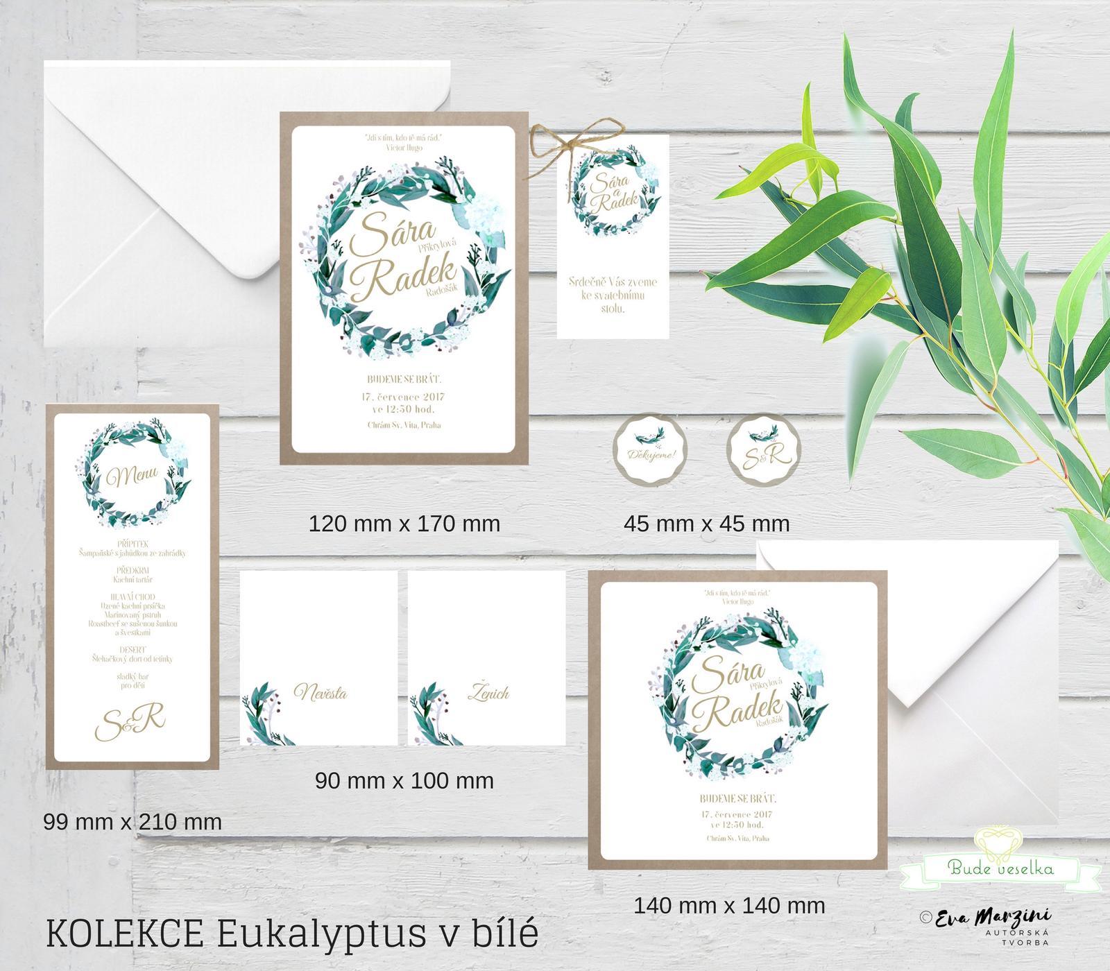 Svatební tiskoviny Eucalyptus - Obrázek č. 1
