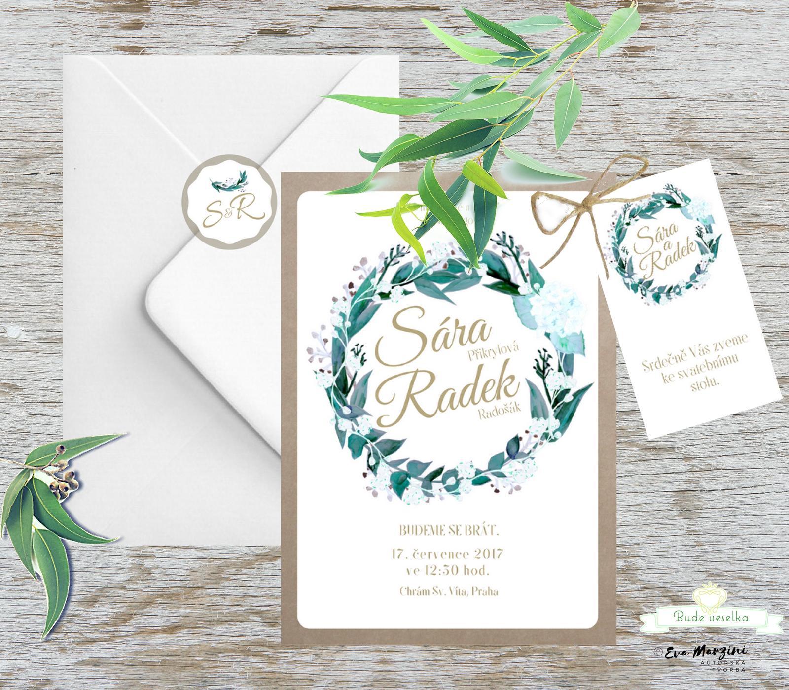 Svatební tiskoviny Eucalyptus - Obrázek č. 4