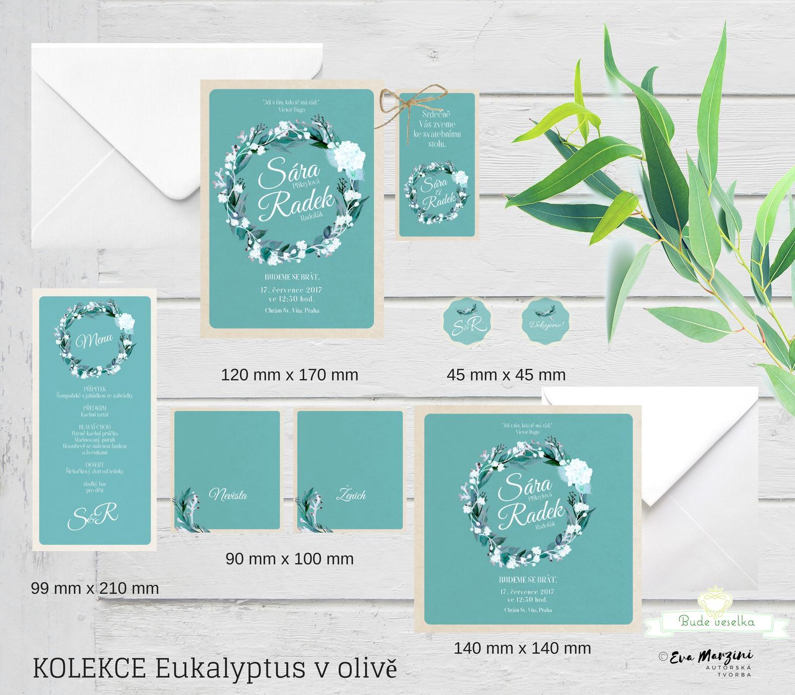 Svatební tiskoviny Eucalyptus - Obrázek č. 2