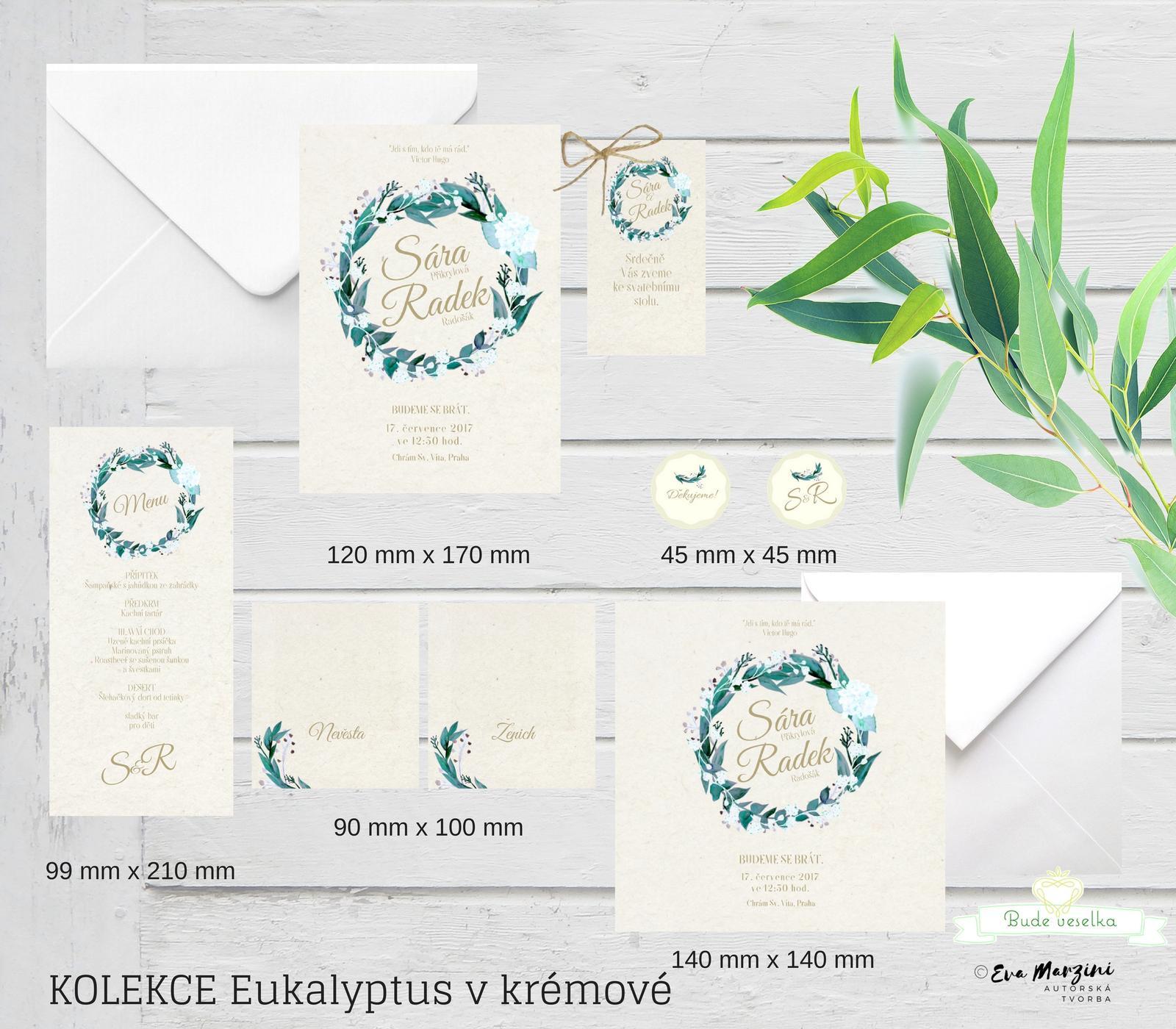 Svatební tiskoviny Eucalyptus - Obrázek č. 3