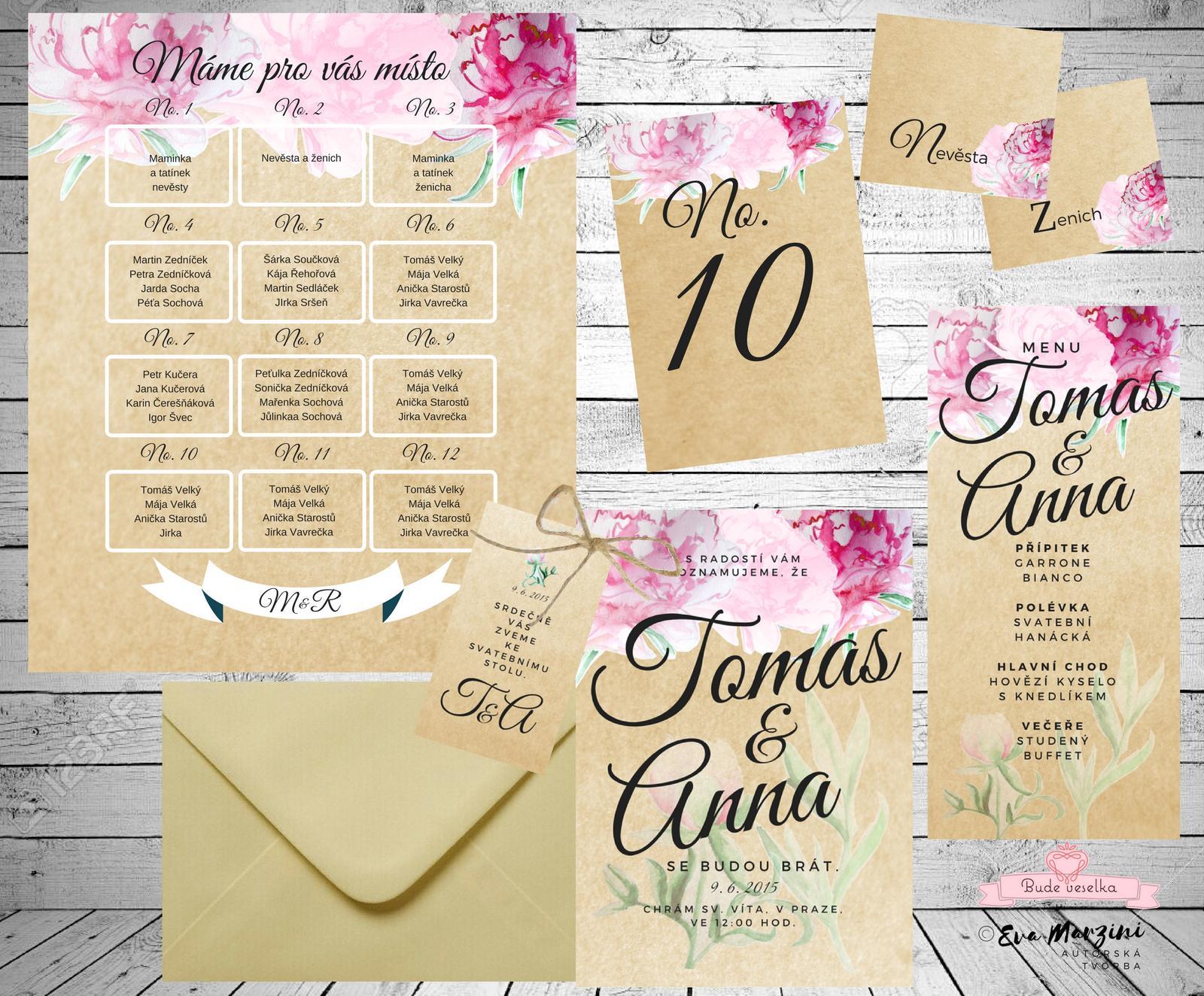 Svatební oznámení  v růžovém snění - Obrázek č. 1