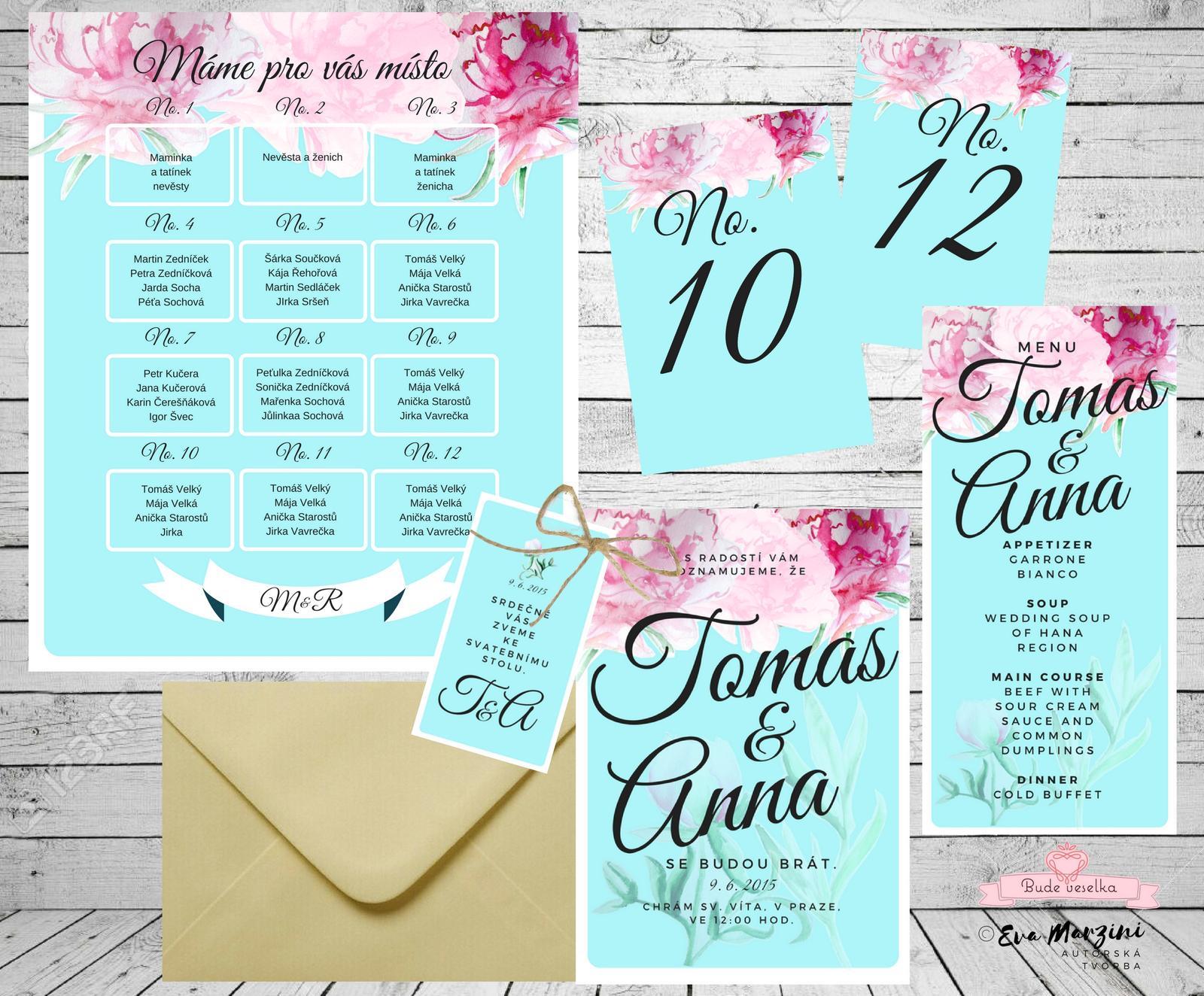 Svatební oznámení  v růžovém snění - Obrázek č. 2