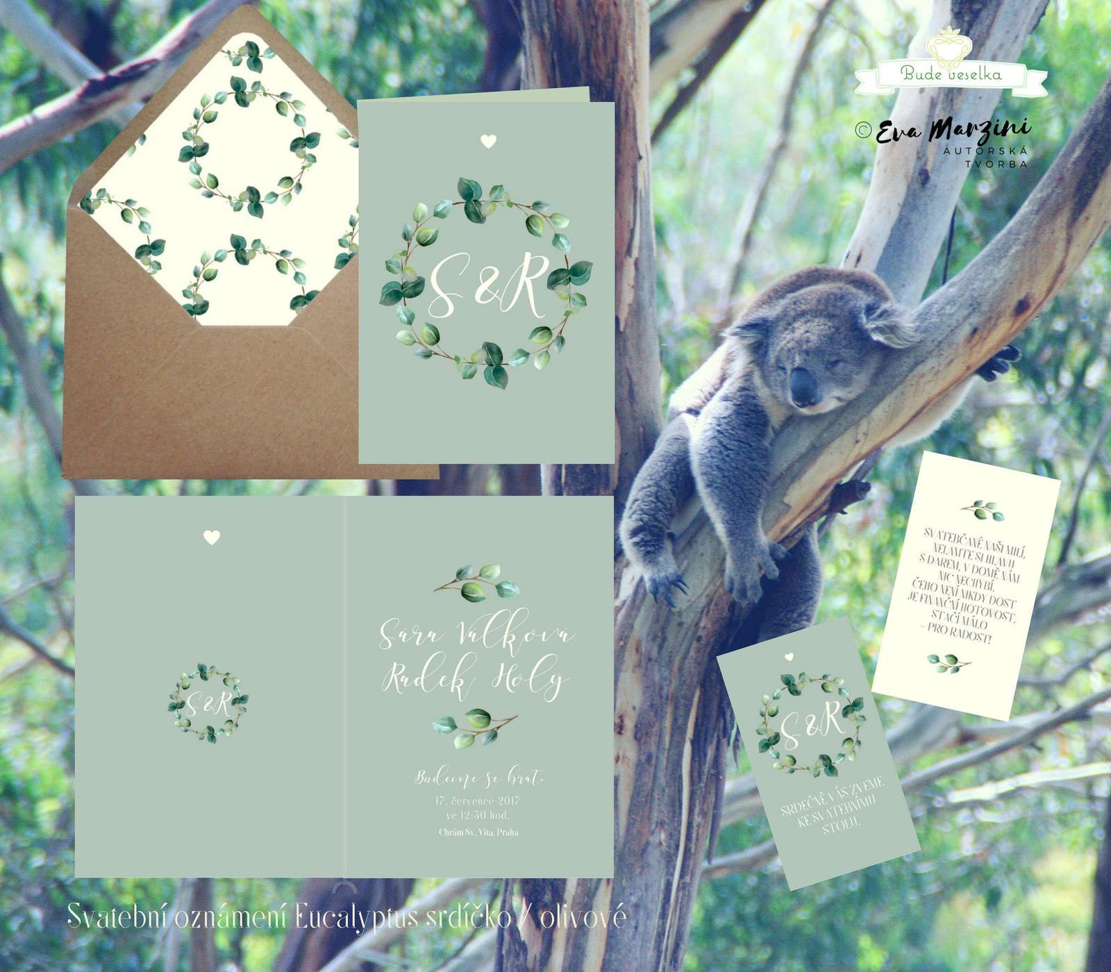 Oznámení Eucalyptus olivové, vintag BudeVeselka.cz - Obrázek č. 1
