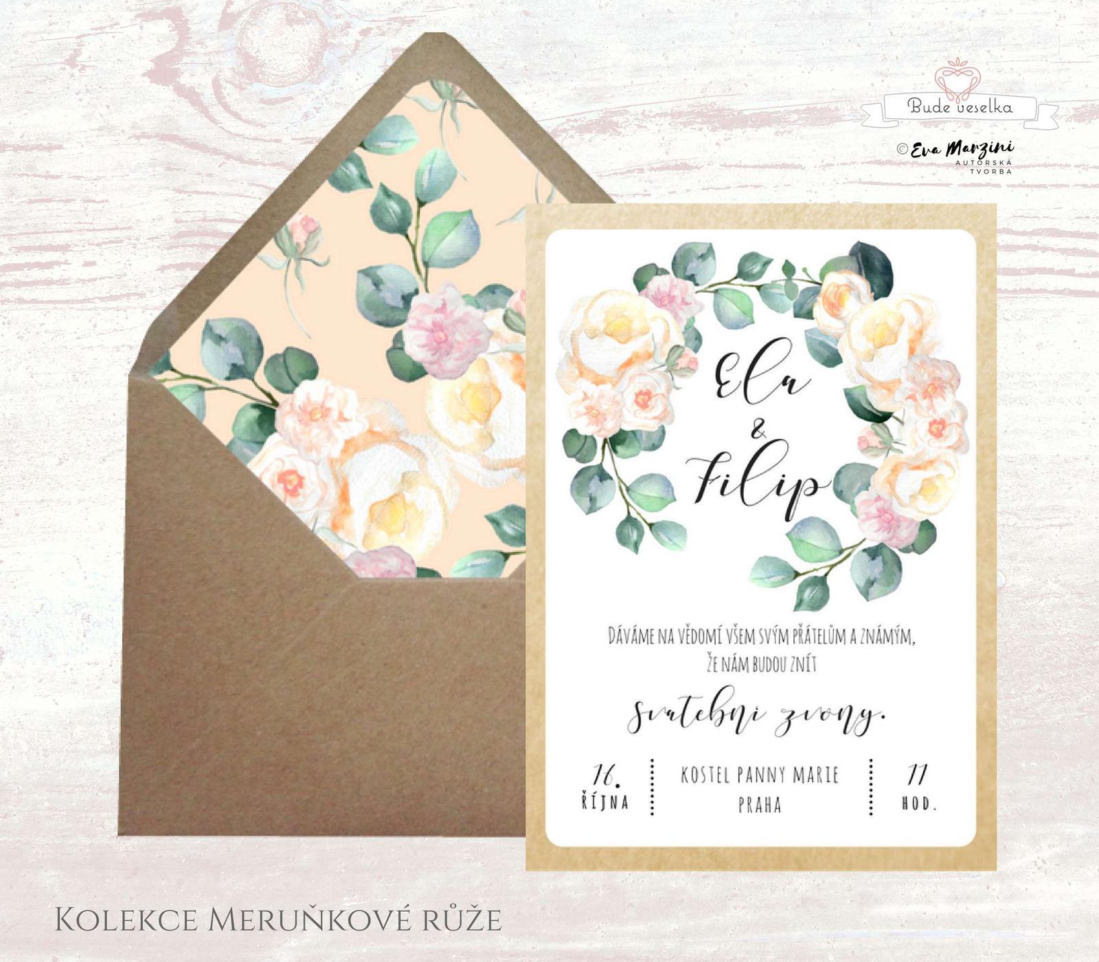 Oznámení Meruňkové růže, vintage, Budeveselka.cz - Obrázek č. 1