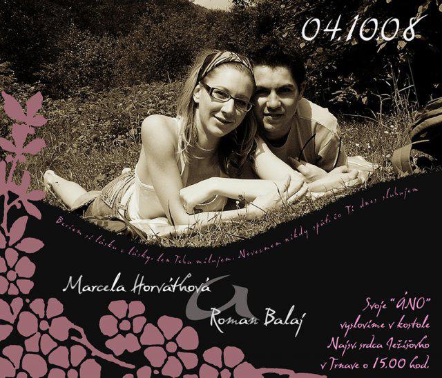 Macka{{_AND_}}Romanko - svadobné oznámenie