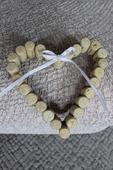Svatební dekorace - Korkové srdce,