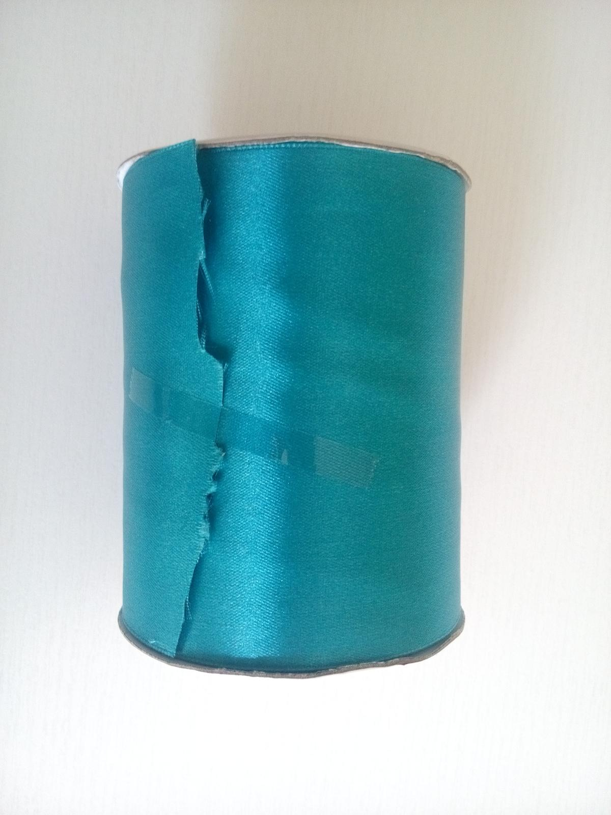 Stuha satén tmavá tyrkysová - Obrázek č. 1