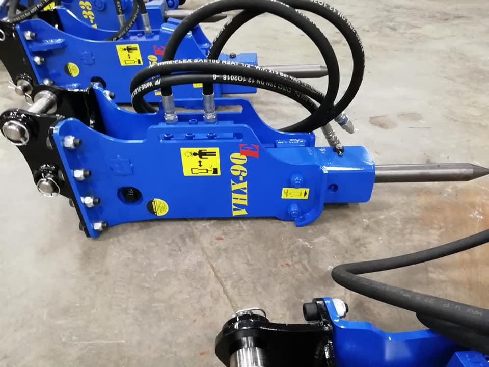 Hydraulické kladivá od Talianskaho výrobcu VISTARINI určené pre minibagre od 0,5 do 10t - Obrázok č. 2