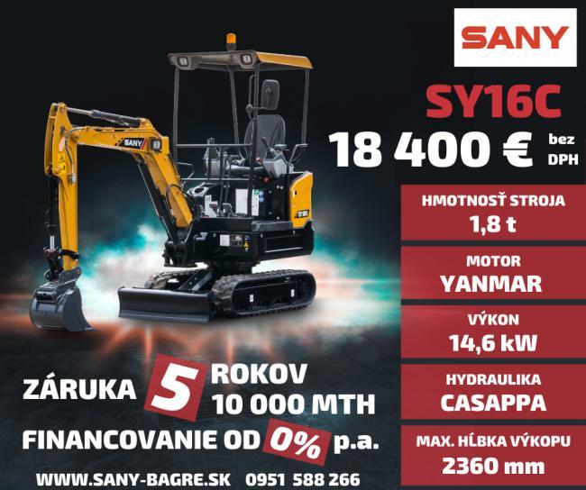 Značka SANY je výrobca v prvej TOP 5 najväčších výrobcov stavebných strojov na svete. Kde predbehla značky ako Kubota, Yanmar JCB a iné. V roku 2008 vznikla centrála SANY v nemeckom Bedburgu, ktorá je plne funkčným moderným závodom s rozlohou 10.000 m2, pre výrobu a servis a náhradné diely Kúpou strojov SANY získavate jedinečnú záruku 5 ROKOV / 10 000 MTH. Príďte si vašu investíciu vyskúšať. Viac na www.bupro.sk - Obrázok č. 1