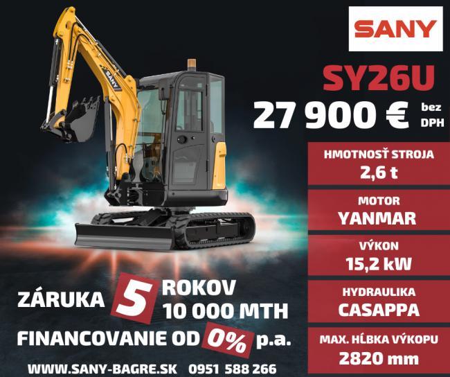 Značka SANY je výrobca v prvej TOP 5 najväčších výrobcov stavebných strojov na svete. Kde predbehla značky ako Kubota, Yanmar JCB a iné. V roku 2008 vznikla centrála SANY v nemeckom Bedburgu, ktorá je plne funkčným moderným závodom s rozlohou 10.000 m2, pre výrobu a servis a náhradné diely Kúpou strojov SANY získavate jedinečnú záruku 5 ROKOV / 10 000 MTH. Príďte si vašu investíciu vyskúšať. Viac na www.bupro.sk - Obrázok č. 2