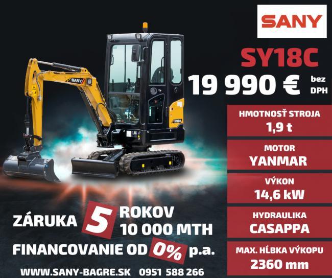 Značka SANY je výrobca v prvej TOP 5 najväčších výrobcov stavebných strojov na svete. Kde predbehla značky ako Kubota, Yanmar JCB a iné. V roku 2008 vznikla centrála SANY v nemeckom Bedburgu, ktorá je plne funkčným moderným závodom s rozlohou 10.000 m2, pre výrobu a servis a náhradné diely Kúpou strojov SANY získavate jedinečnú záruku 5 ROKOV / 10 000 MTH. Príďte si vašu investíciu vyskúšať. Viac na www.bupro.sk - Obrázok č. 3