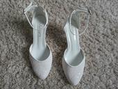 Svatebni boty s perlickami 5 cm podpatek, 36