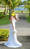Svatební šaty bílé korzetové, 38