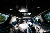 Nádherná fotka v interiéru limuzíny