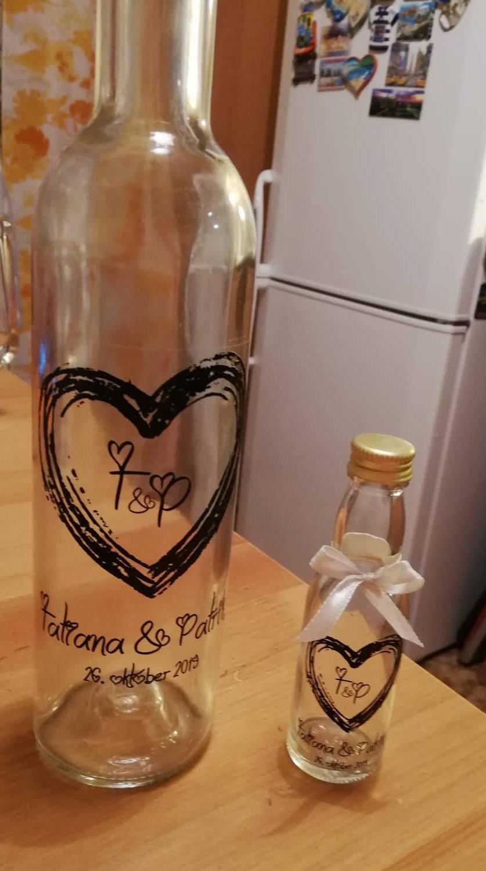 Plánovanie toho nášho najkrajšieho DŇA  :-) - Flašky na výslužky a flašky ako darčeky pre pánov na svadbu :-)