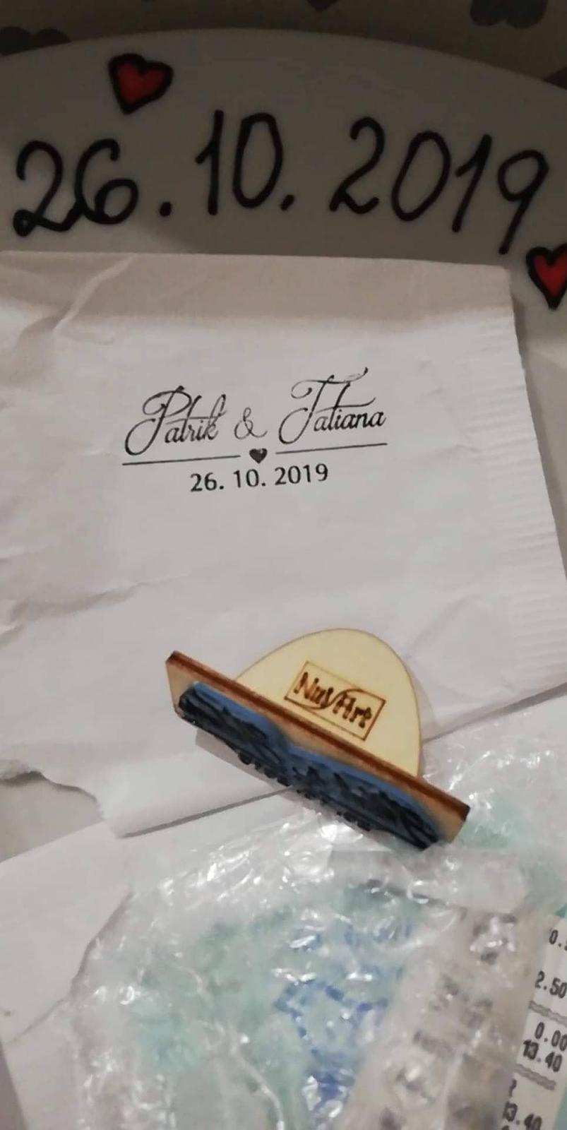 Plánovanie toho nášho najkrajšieho DŇA  :-) - naša svadobná pečiatka, budeme používať na obálky (oznámenia) a na krabičky od koláčov