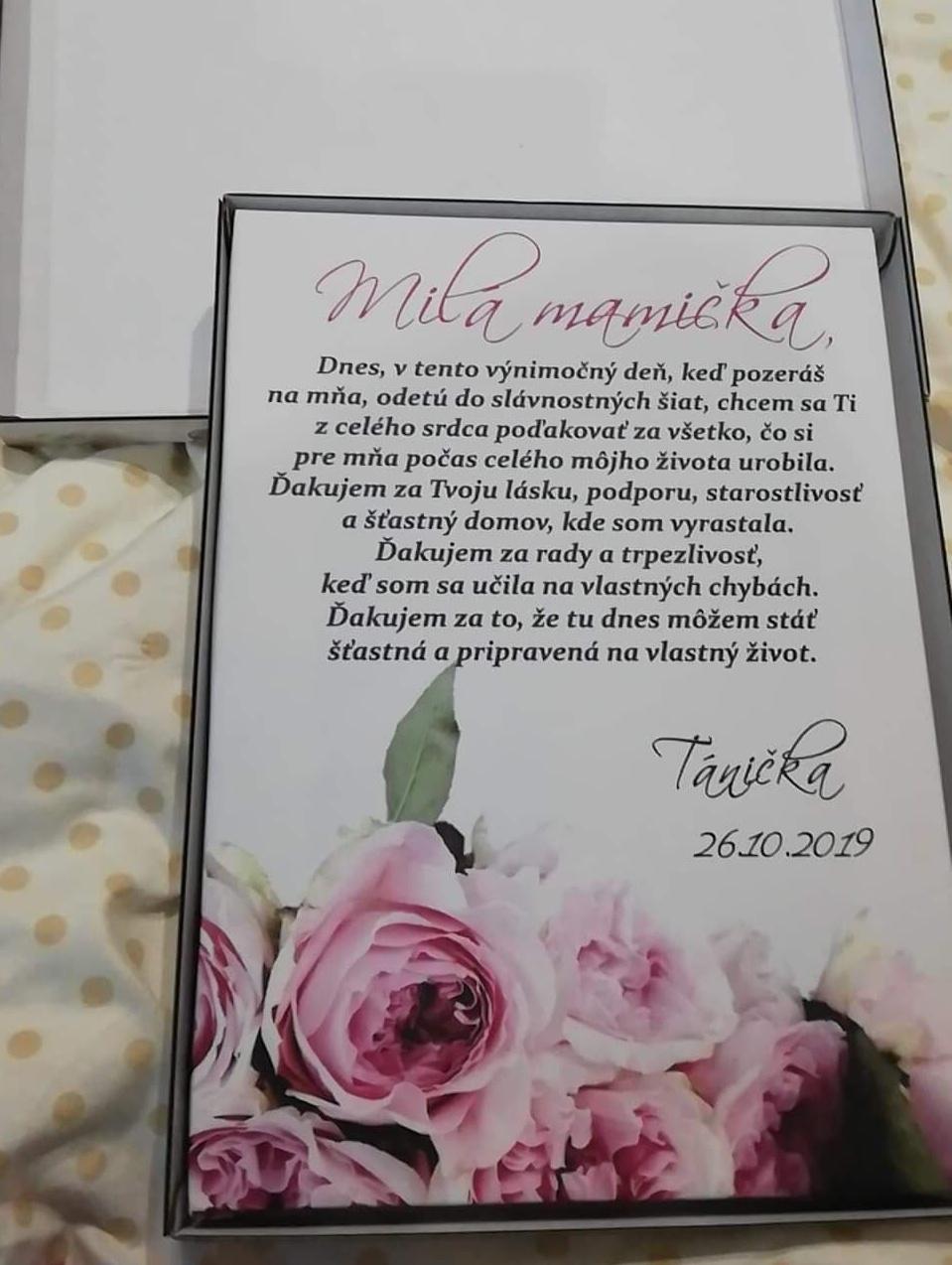 Plánovanie toho nášho najkrajšieho DŇA  :-) - Poďakovanie pre mamičku :-)