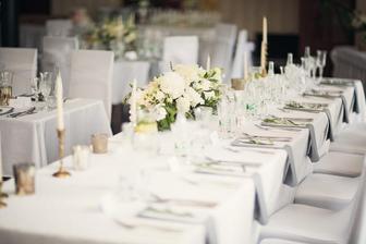 Celá naša svadba bude vo farbách luxusu, čo pre mňa znamená biela, sivá, strieborná. Kvety: pivónky, biele hortenzie...