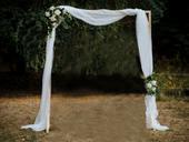 Dřevěná svatební brána,