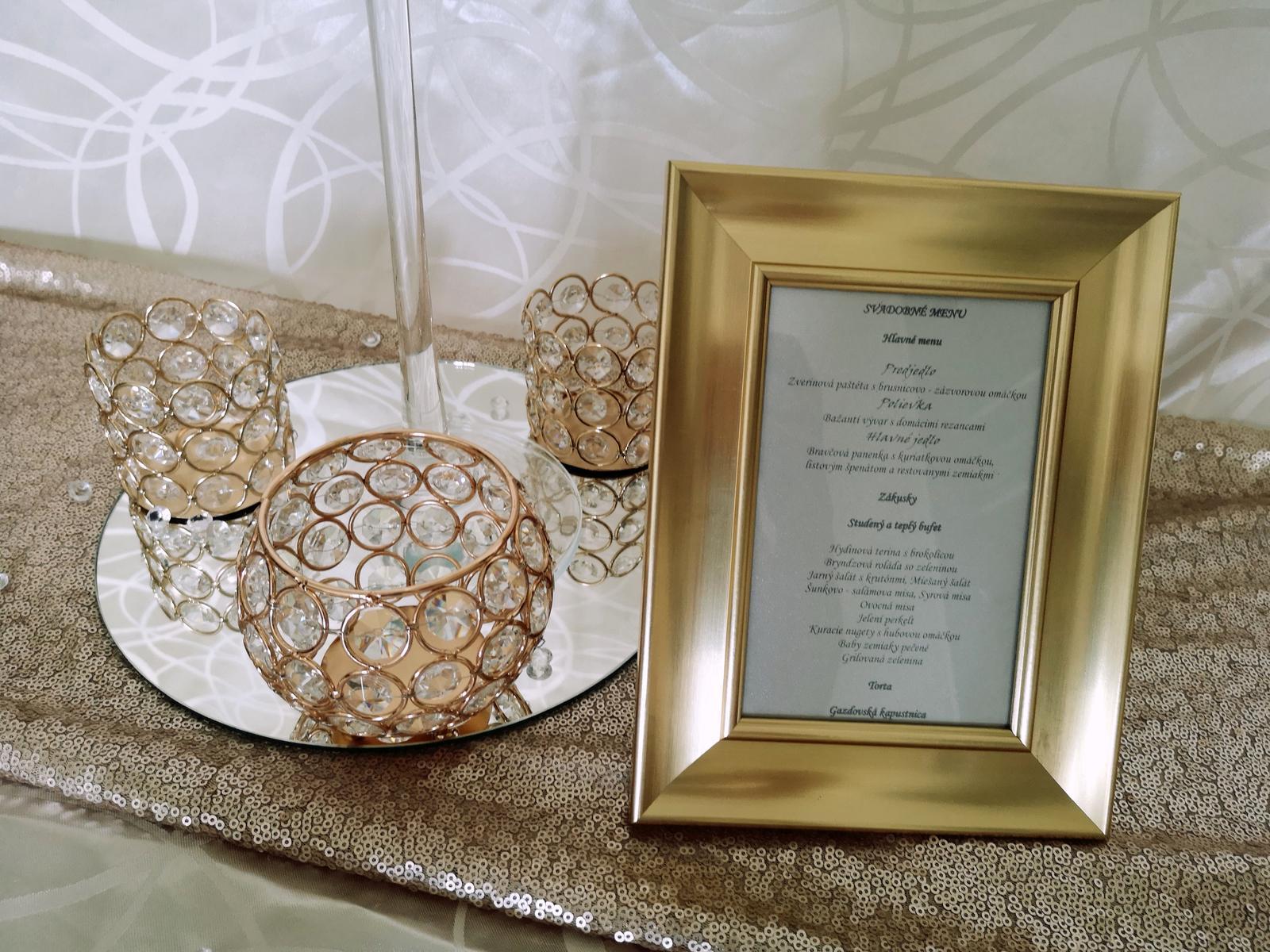 Dekorácie stolov pre svadobných hostí - Obrázok č. 1