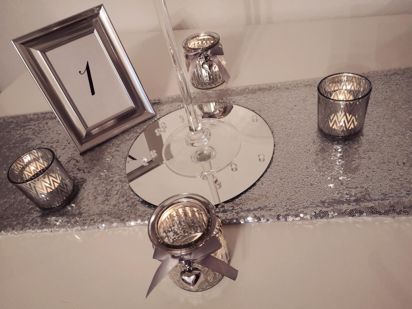 Dekorácie stolov pre svadobných hostí - Obrázok č. 3