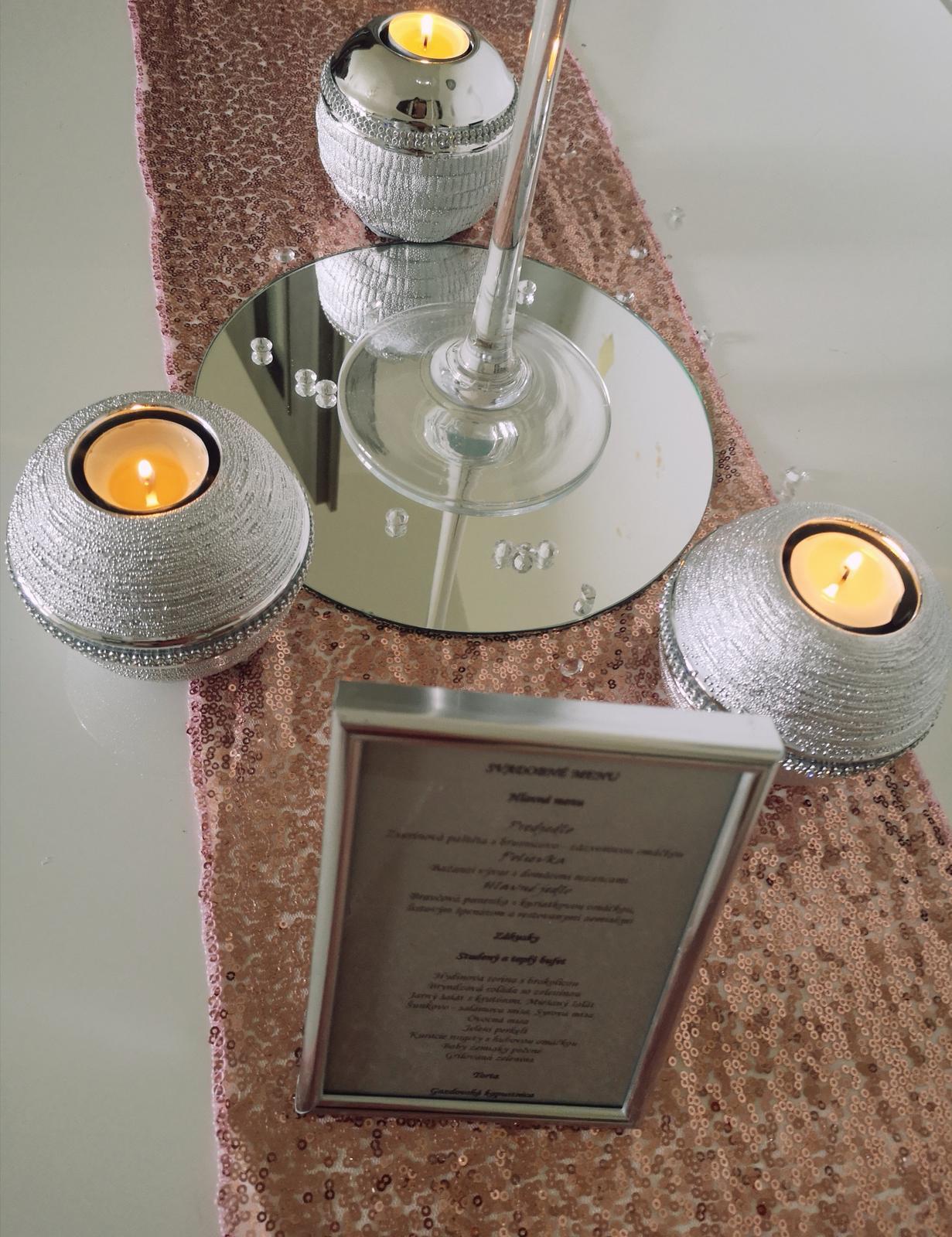 Dekorácie stolov pre svadobných hostí - Obrázok č. 4