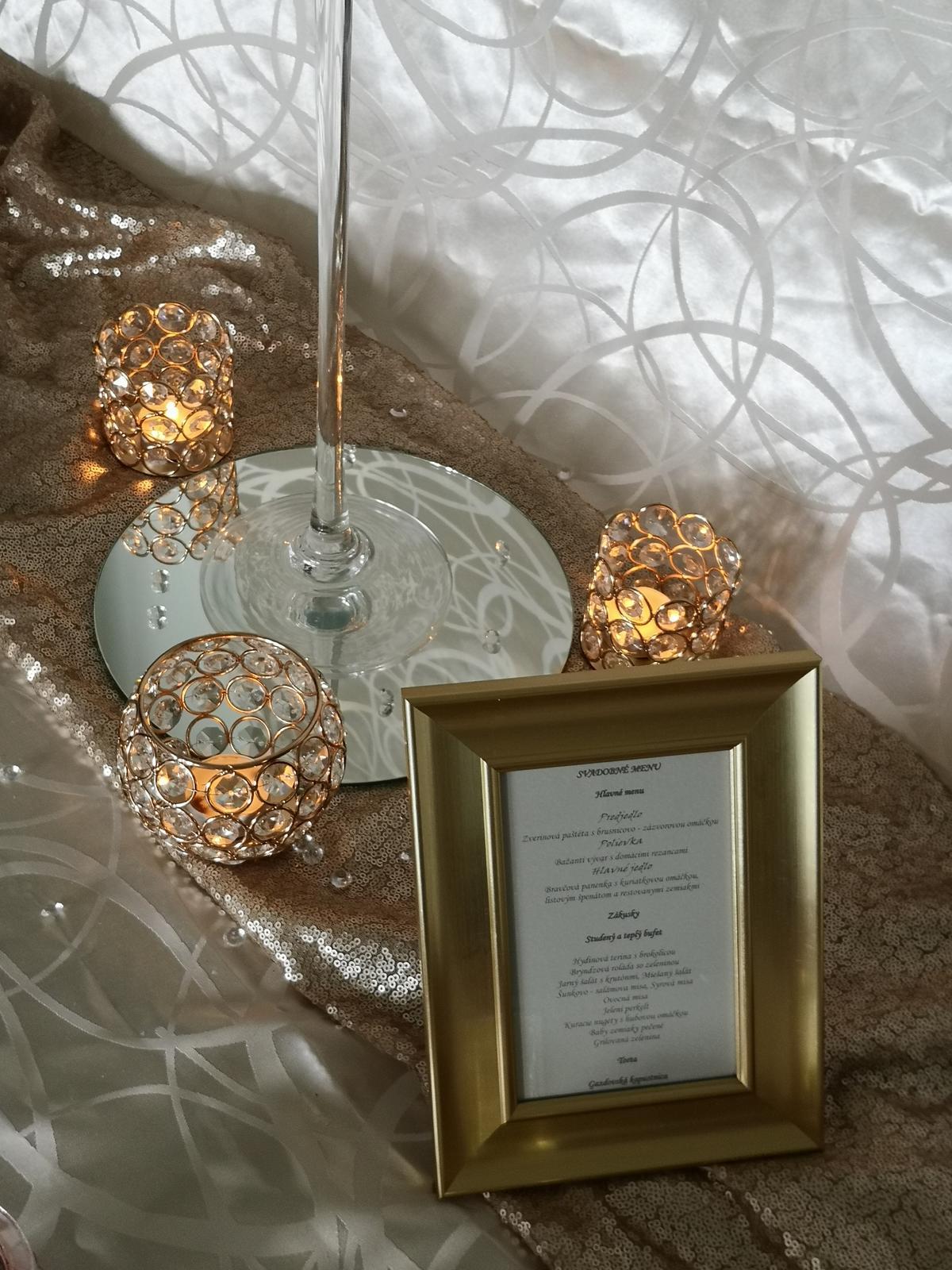 Dekorácie stolov pre svadobných hostí - Obrázok č. 5