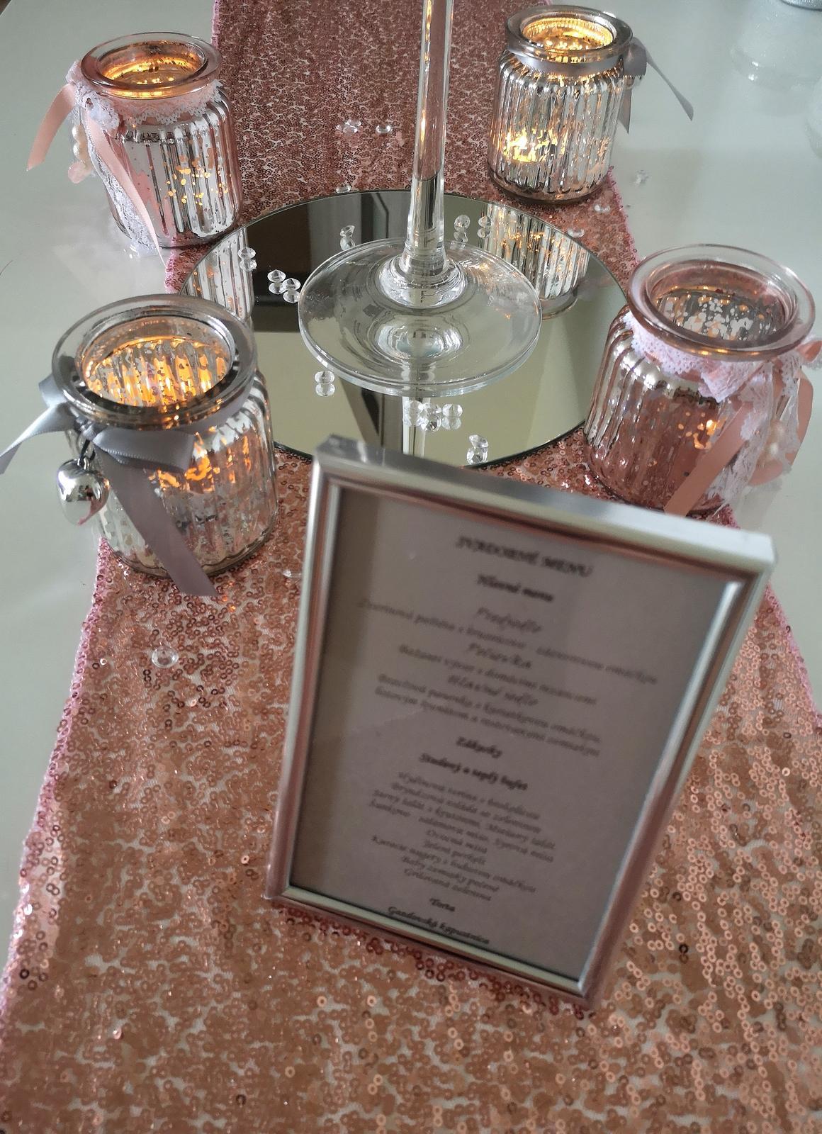 Dekorácie stolov pre svadobných hostí - Obrázok č. 6